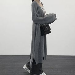 NANING9 - Open-Front Long Cardigan
