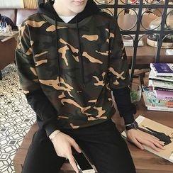 JORZ - Camouflage Print Hoodie