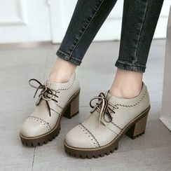 Pangmama - Chunky-Heel Oxford Shoes