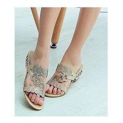 Freesia - Embellished Slide Sandals