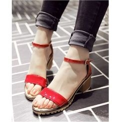 Freesia - Ankle Strap Patent Sandals