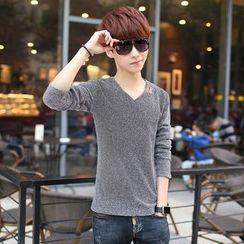 Breeson - V-Neck Long-Sleeve T-Shirt