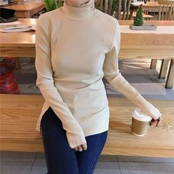 Eva Fashion - Turtleneck Ribbed Top