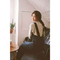 CHERRYKOKO - Corduroy Slim-Fit Midi Jumper Dress
