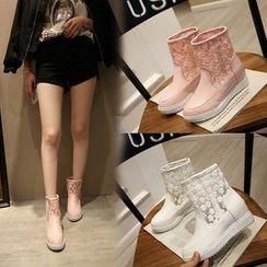 Shoes Galore - Platform Short Boots