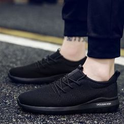 Chariot - Knit Lace-Up athletic Sneakers