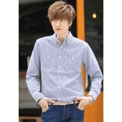 PLAYS - Long-Sleeve Gingham Shirt