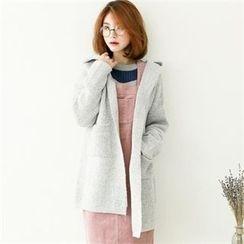 GLAM12 - Wool Blend Knit Hoodie