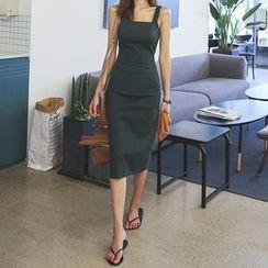 DABAGIRL - Square-Neck Sleeveless Midi Dress