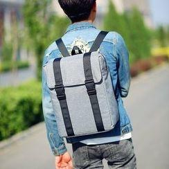 SUNMAN - Plain Canvas Square Backpack
