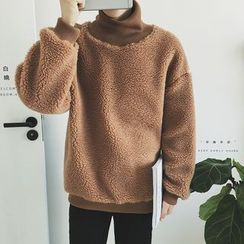 Arthur Look - Turtleneck Fleece Sweatshirt