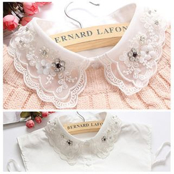 Debii - Rhinestone Lace Decorative Collar
