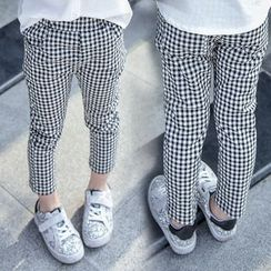 Merry Go Round - Kids Gingham Skinny Pants