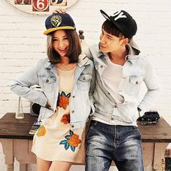 Gurun Vani - Couple Hooded Washed Denim Jacket