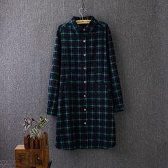Blue Rose - Plaid Long Shirt