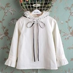Kidora - Kids Tie Neck Blouse