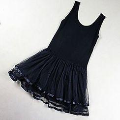 LaRos - 飾蕾絲背心裙