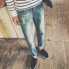 JORZ - Ripped Straight Fit Jeans