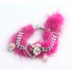 MIPENNA - Pink Snow Deer Crystal Bracelet