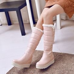 Pastel Pairs - Padded Platform Tall Boots