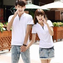 Igsoo - 情侶短袖T恤