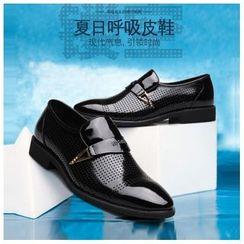 Fortuna - Genuine-Leather Cutout Dress Shoes