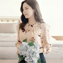 CHICLINE - Floral-Patterned Blouse