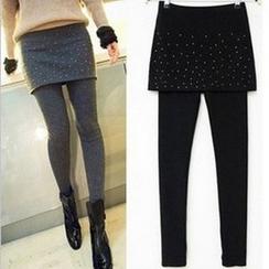 Hyoty - Inset Studded Skirt Leggings