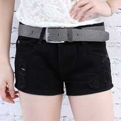 Nassyi - Distressed Denim Shorts