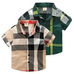 WellKids - 儿童格纹衬衫