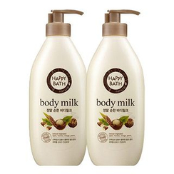 HAPPY BATH - Set of 2: Natural Real Mild Body Milk 450ml