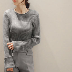 NANING9 - Long-Sleeve Ribbed Sweater