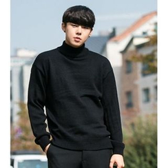 ABOKI - Turtle-Neck Colored Sweater