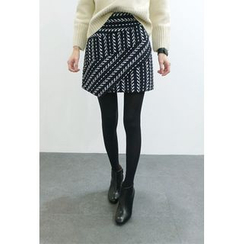 ATTYSTORY - Patterned Knit Mini Skirt