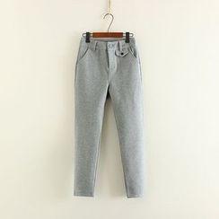Mushi - Woolen Harem Pants