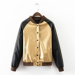Neeya - Sequinned Baseball Jacket