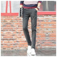Leewiart - Slim-Fit Elastic Pants