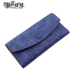 Bags 'n Sacks - Faux Suede Flap Long Wallet