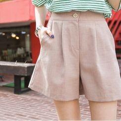 LOLOten - Zip-Front Wide-Leg Shorts