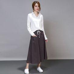 Iscat - 套装: 长袖衬衫 + 长裙