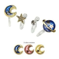 Cometto - Planet Clip-On Earrings Set