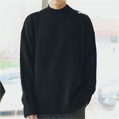 MITOSHOP - Mock-Neck Knit Top