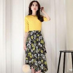 Romantica - Set: Top + Floral Skirt