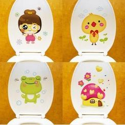 LESIGN - Cartoon Toilet Sticker
