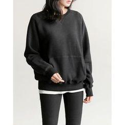 UPTOWNHOLIC - Round-Neck Cotton Pullover
