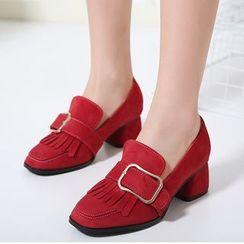 Monde - 粗跟樂福鞋