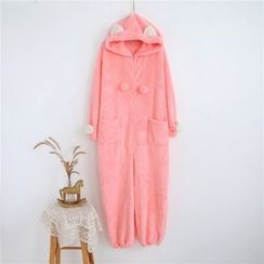 Janseed - Hooded Pajama Jumpsuit