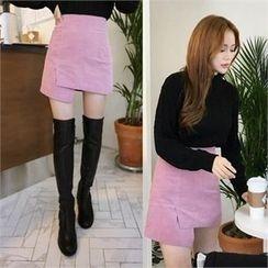 QNIGIRLS - Corduroy Mini Skirt