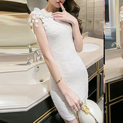 Fashion Street - Lace Off-Shoulder Bodycon Dress