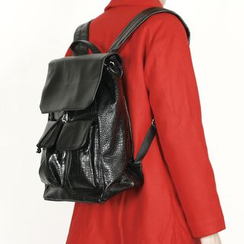 Remember Click - Faux-Leather Backpack